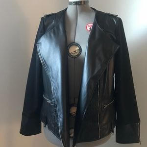 📌NY Collection Faux Leather Jacket